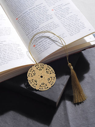 Chakra Gold Plated Brass Bookmark