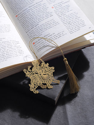 Durga Gold Plated Brass Bookmark