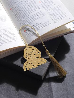 Gandhi Ji Gold Plated Brass Bookmark