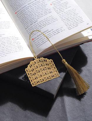 Hawa Mahal Gold Plated Brass Bookmark