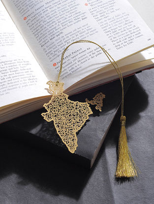 India Gold Plated Brass Bookmark