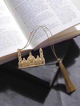 Jama Masjid Gold Plated Brass Bookmark