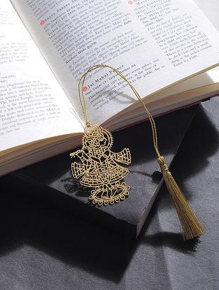 Krishna Gold Plated Brass Bookmark