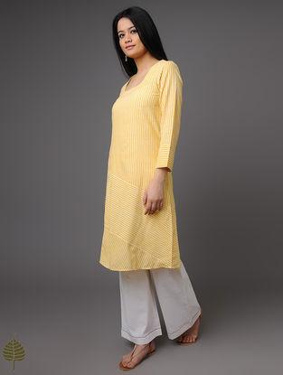 Yellow Handloom Khadi Kurta by Jaypore