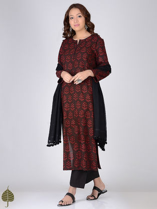 Madder Ajrakh-printed Cotton Kurta by Jaypore