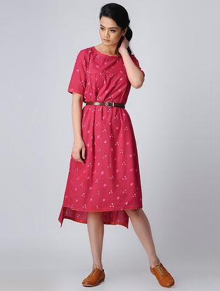 Pink Bandhani Cotton Dress