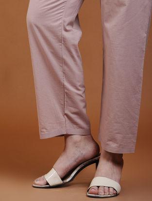 Taupe Tie-Up Waist Cotton Pants