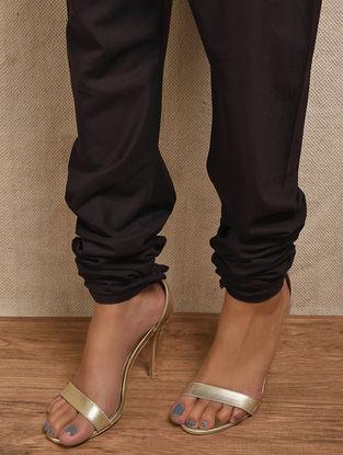 Black Elasticated-waist Cotton Churidar