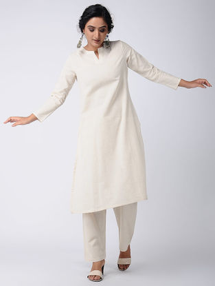 Ivory Cotton Kurta