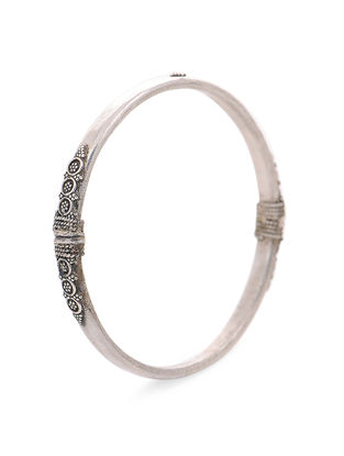 Tribal Silver Bangle (Bangle Size - 2/6)