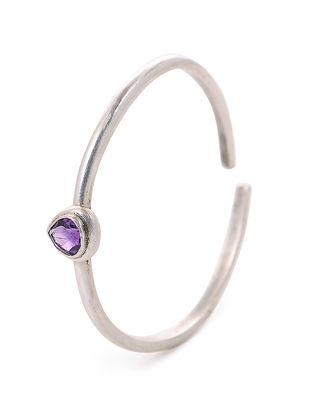 Purple Tribal Silver Cuff