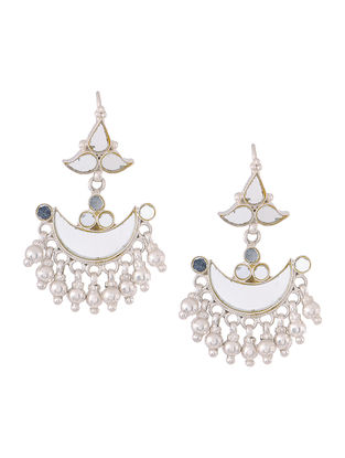 Glass Silver Earrings