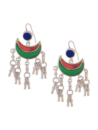 Multicolored Glass Tribal Earrings