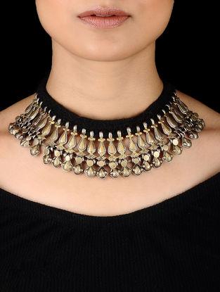 Dual Tone Silver Thread Necklace