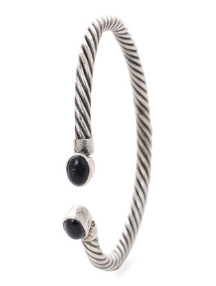 Black Tribal Silver Cuff