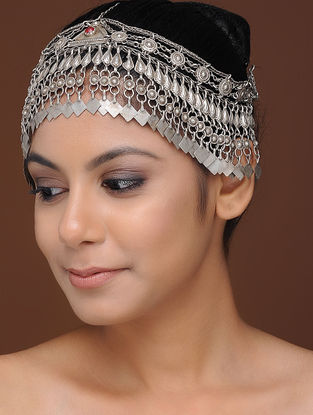 Coral Tribal Silver Matha Patti