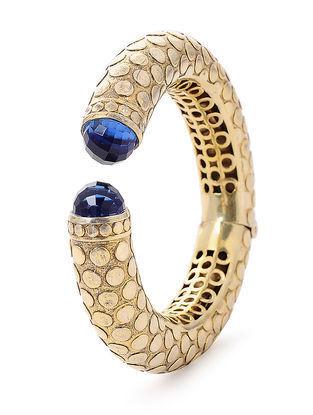 Blue Gold Tone Silver Cuff
