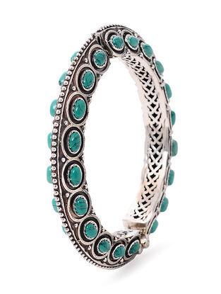 Turquoise Tribal Silver Bangle (Bangle Size -2/6)