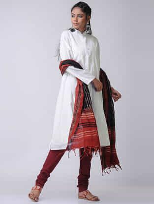 White Cotton Slub Kurta with Slip by Jaypore (Set of 2)