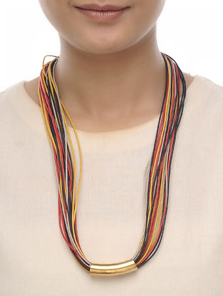 Multicolored Cotton Thread Necklace