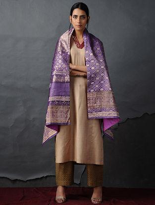 Purple-Pink Vintage Benarasi Silk Brocade Dupatta