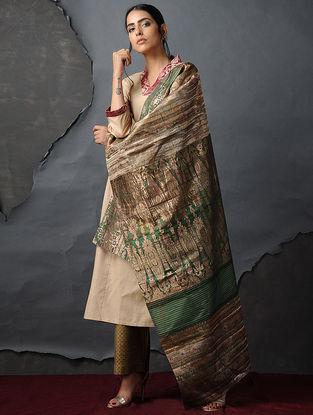 Green Vintage Benarasi Silk Brocade Dupatta