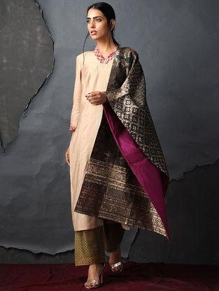 Green-Pink Vintage Benarasi Silk Brocade Dupatta