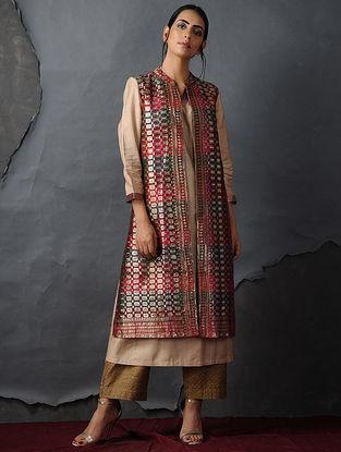 Multi-color Vintage Benarasi Silk Brocade Jacket