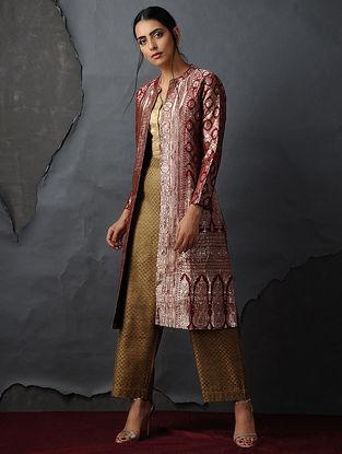 Fuschia-Gold Vintage Benarasi Silk Brocade Jacket