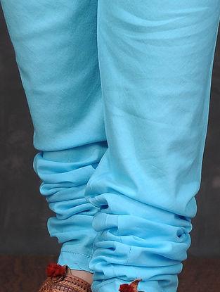 Blue Elasticated Waist Cotton Churidar by Jaypore