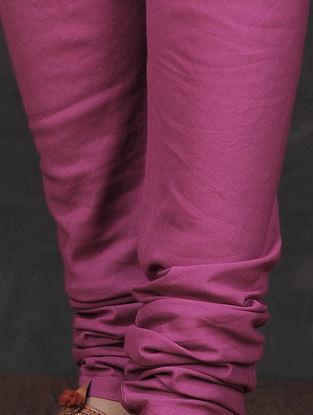 Pink Elasticated Waist Cotton Churidar by Jaypore