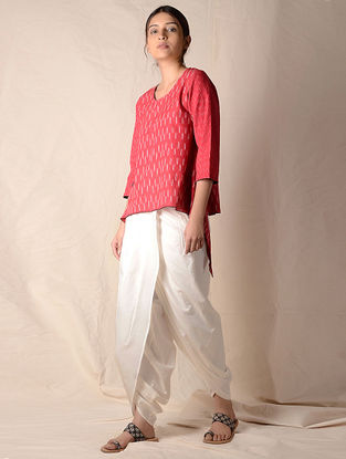 Ivory Elasticated Waist Dhoti Pants by Jaypore