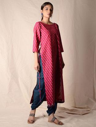 Indigo Elasticated Waist Dhoti Pants by Jaypore
