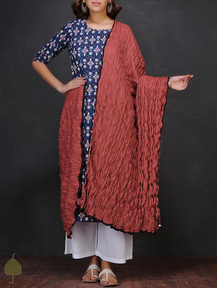 Red Crushed Cotton Dupatta