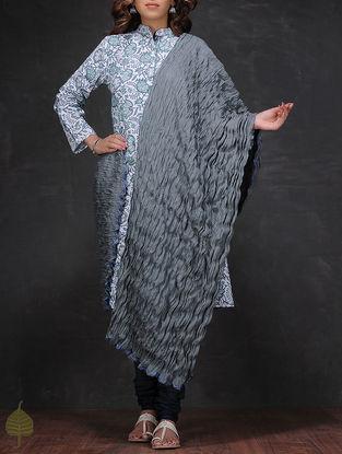 Grey Crinkled Cotton Dupatta