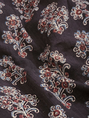 Black-Madder Ajrakh-printed Cotton Fabric
