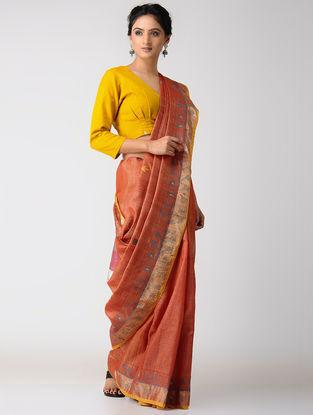 Red-Pink Silk Jamdani Saree