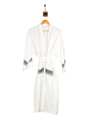 Black-Ivory Cotton Bathrobe
