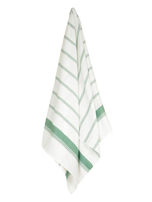 Ivory-Green Candy Stripe Cotton Towel