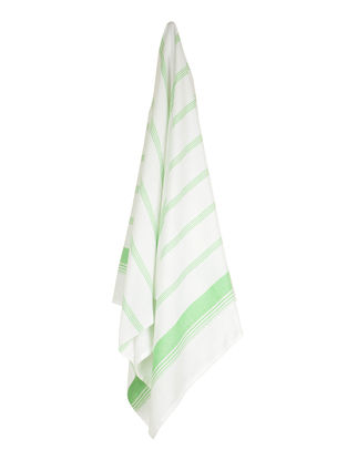Ivory-Pear Candy Stripe Cotton Towel