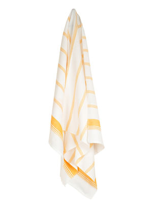 Ivory-Mustard Candy Stripe Cotton Towel