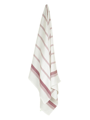 Ivory-Brown Candy Stripe Cotton Towel