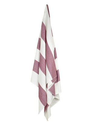 Ivory-Brown Bold Stripe Cotton Towel