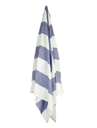 Ivory-Blue Bold Stripe Cotton Towel