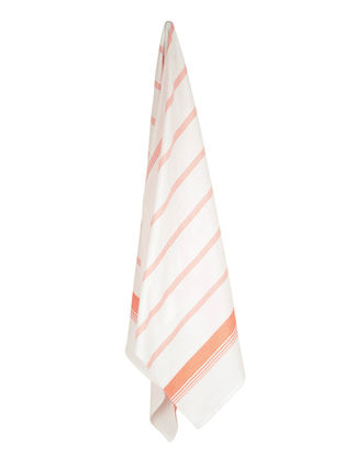Ivory-Peach Candy Stripe Cotton Towel