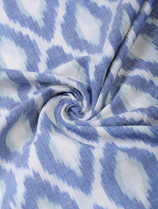 Blue Handloom Ikat Cotton Fabric