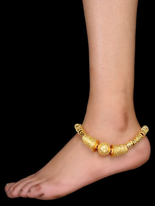 Gold Tone Handcrafted Anklet