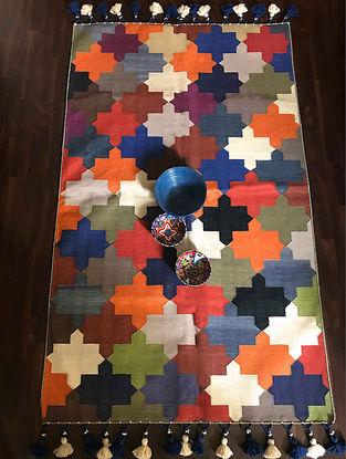 Clarina Multicolored Hand Woven Cotton Rug