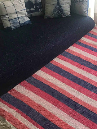 Carla Multicolored Cotton and Silk Rug (6ft x 4ft)