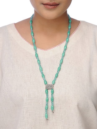 Blue Handcrafted Beaded Necklace